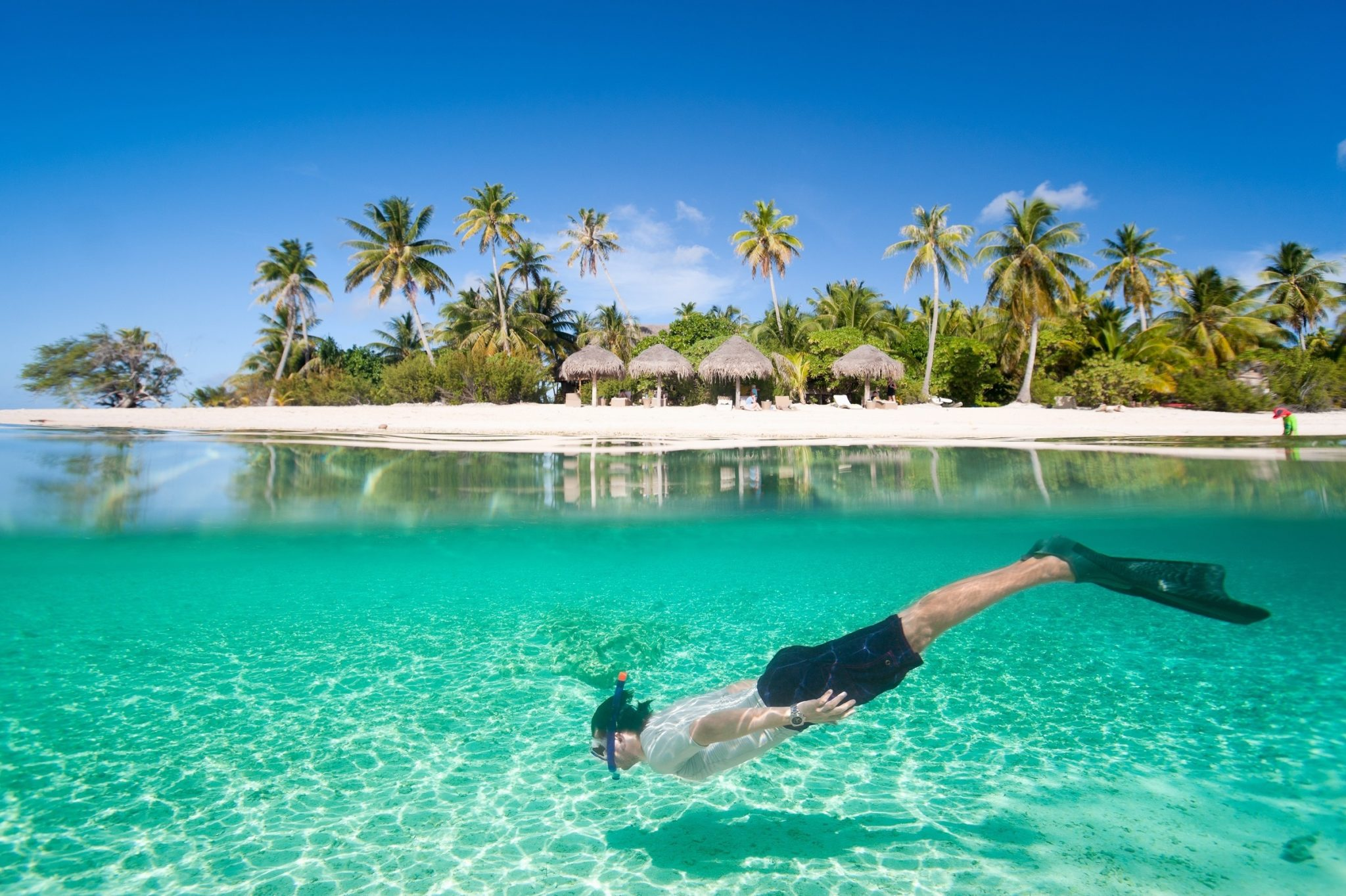 Man Snorkeling in Saona